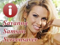 Savanna Samson Pornstar Screensaver